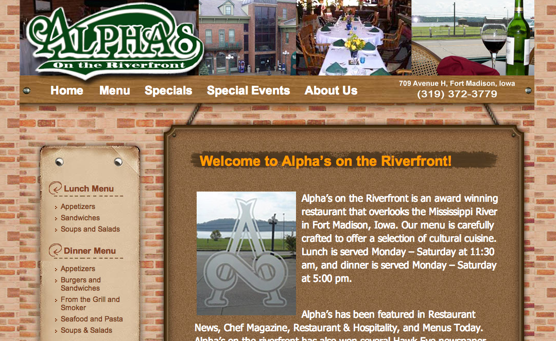 Alpha's on the Riverfront