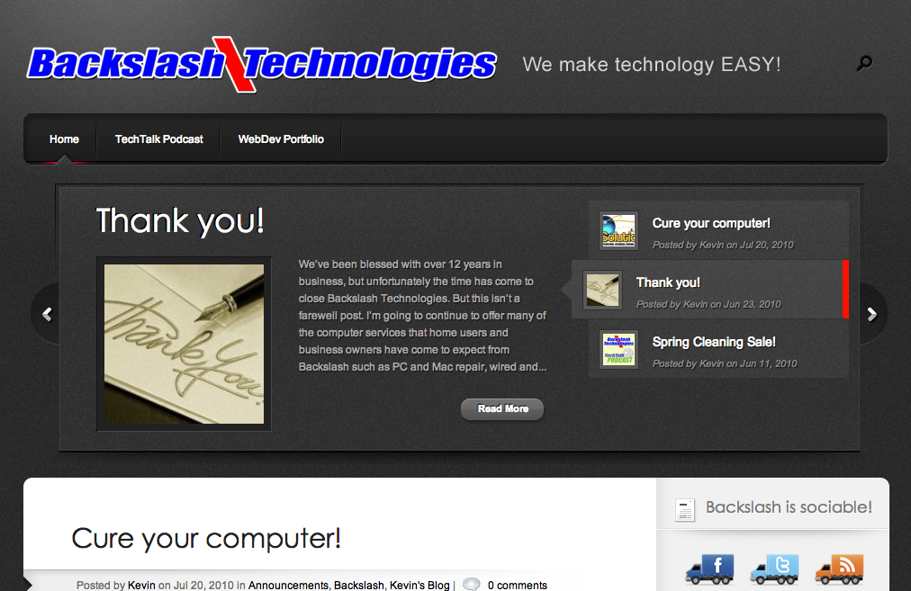 Backslash Technologies
